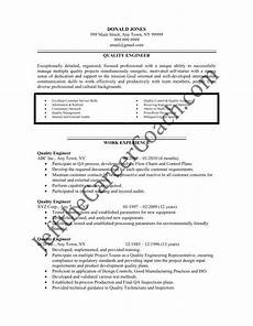 download the quality engineer resume sle three in pdf