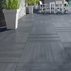 carrelage terrasse gris anthracite 50 x 50 cm caillebotis