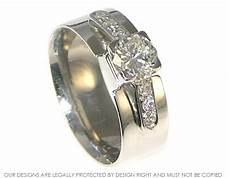 platinum and diamond combined wedding and engagement ring
