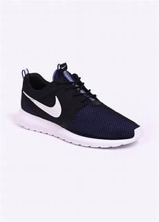 nike roshe run nm br trainers black blue