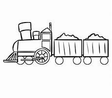 kostenlose malvorlage transportmittel zug mit gef 252 llten