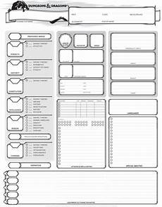 dungeons dragons 5th edition character sheet dnd character sheet character sheet dungeons