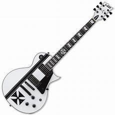 esp ltd iron cross esp ltd iron cross snow white hetfield guitar with ebay