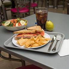carlisle ct101423 cafe 10 quot 14 quot gray standard plastic fast food tray