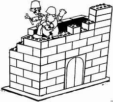 maenner bauen mauer ausmalbild malvorlage comics