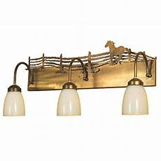 Lodge Bathroom Vanity Lights by Pinecone Lodge Painted Vanity Light Cabin Place
