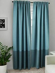 gardinen blau ikea gardinen marjun 2x gardinenschals verdunkelt blau