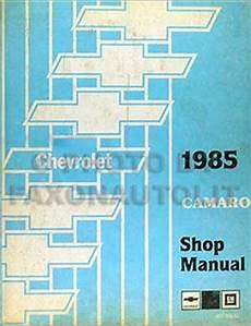 free car manuals to download 1985 chevrolet camaro security system 1985 chevy camaro repair shop manual original