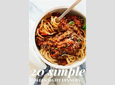 20 Simple Vegetarian Dinner Recipes   Cookie and Kate