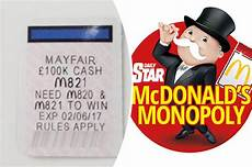mcdonalds monopoly 2017 mcdonald s monopoly 2017 bloke claims he s found mayfair