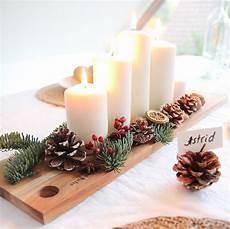 Tischdeko Weihnachten Natur - weihnachtliche tischdeko aus naturmaterialien design dots
