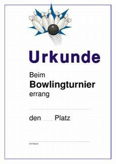 urkunde bowling strike pdf vorlage zum ausdrucken