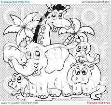 Malvorlagen Afrikanische Tiere Royalty Free Rf Clipart Illustration Of A Coloring Page