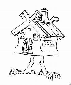 Gratis Malvorlagen Haus Haus Mit Beinen Ausmalbild Malvorlage Phantasie
