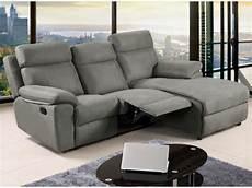sessel divano divano angolare relax in tessuto grigio e caramello artuki