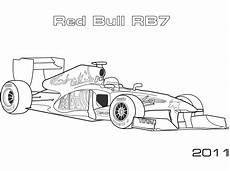 bull formel 1 autos ausmalbilder test