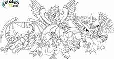 skylanders dragons coloring pages team colors