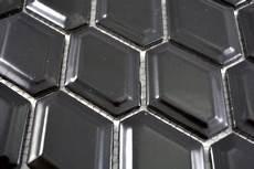 mosaik fliese keramik diamant metro schwarz gl 228 nzend