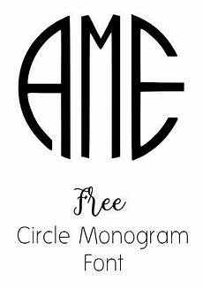 Circle Monogram Font Free For Cricut Free Photos