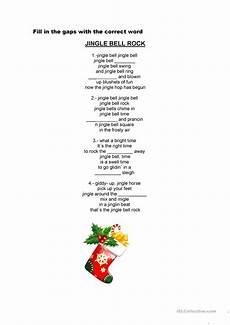 jingle bells rock worksheet free esl printable