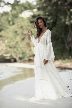 Robe Blanche Maxi Cotonnade Manches Tres Longues