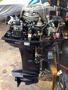 tohatsu m40 40hp 2 stroke shaft outboard boat engine sold ash marine