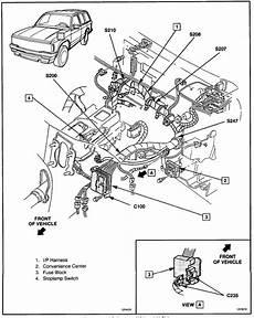 carfusebox chevy s10 blazer alternator to c100 connector wiring diagram