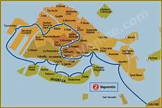 horaire italie 2 venise vaporetto carte plan de la ligne 2