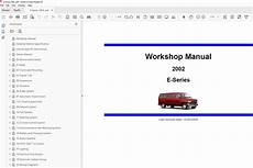 service manuals schematics 2002 ford e series engine control 2001 ford e series repair manual