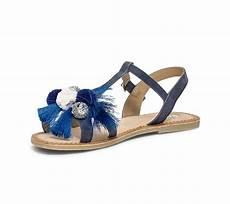 Sandale Femme Pompon Sandale Bleu Marine 224 Pompons