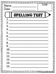 free spelling test template classroom pinterest school teacher and language arts