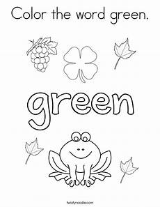 color green worksheets for preschool 12861 color the word green coloring page twisty noodle