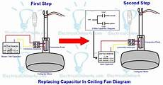 replacing capacitor in ceiling fan with diagrams electrical online 4u electrical tutorials