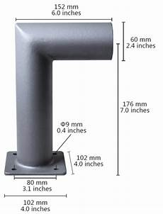 street light wall bracket l series 60mm