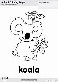 koala coloring page simple