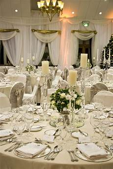a gorgeous wedding table setting in the k club the neutral tones create a very classic look go