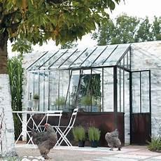metalen halve serre met roesteffect h245 tuin en terras