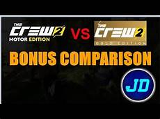 the crew 2 gold edition vs motor edition bonus