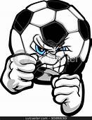 Fighting Soccer Ball Vector Illustration Stock