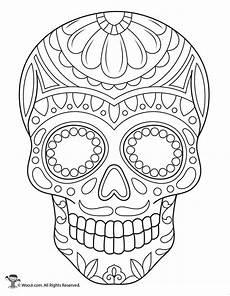 Ausmalbilder Erwachsene Totenkopf Sugar Skull Coloring Page Woo Jr Activities