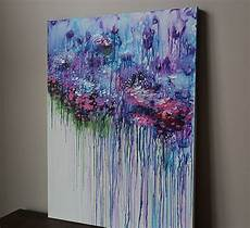 bilder malen acryl ideen violet purple abstract flower painting acrylic painting