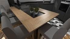 cuisine moderne gris anthracite mat et bois massif