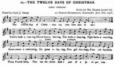 the twelve days of christmas version 1