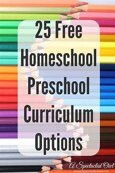 25 free homeschool preschool curriculum options a spectacled owl