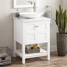 24 quot everett vessel sink console vanity white bathroom