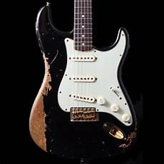 fender stratocaster gold hardware 2014 fender custom shop 1965 stratocaster heavy relic in black with gold