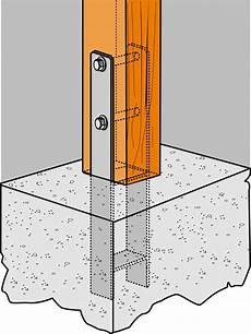 abri en bois 10025 pies en quot h quot y quot u quot para el anclaje de pilares de madera