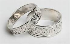 14k white gold irish handcrafted celtic knot wedding rings sizes 4 to 13 ebay