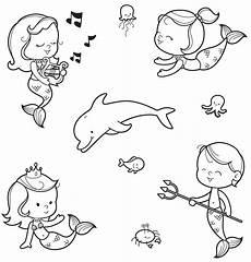 Ausmalbilder Tiere Unter Wasser Kostenlose Malvorlage M 228 Rchen Nixen Und Ein Wassermann