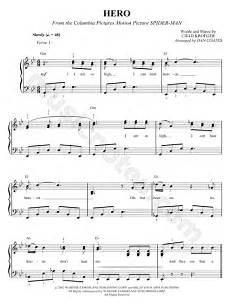 chad sheet chad kroeger quot hero quot sheet music in bb major download